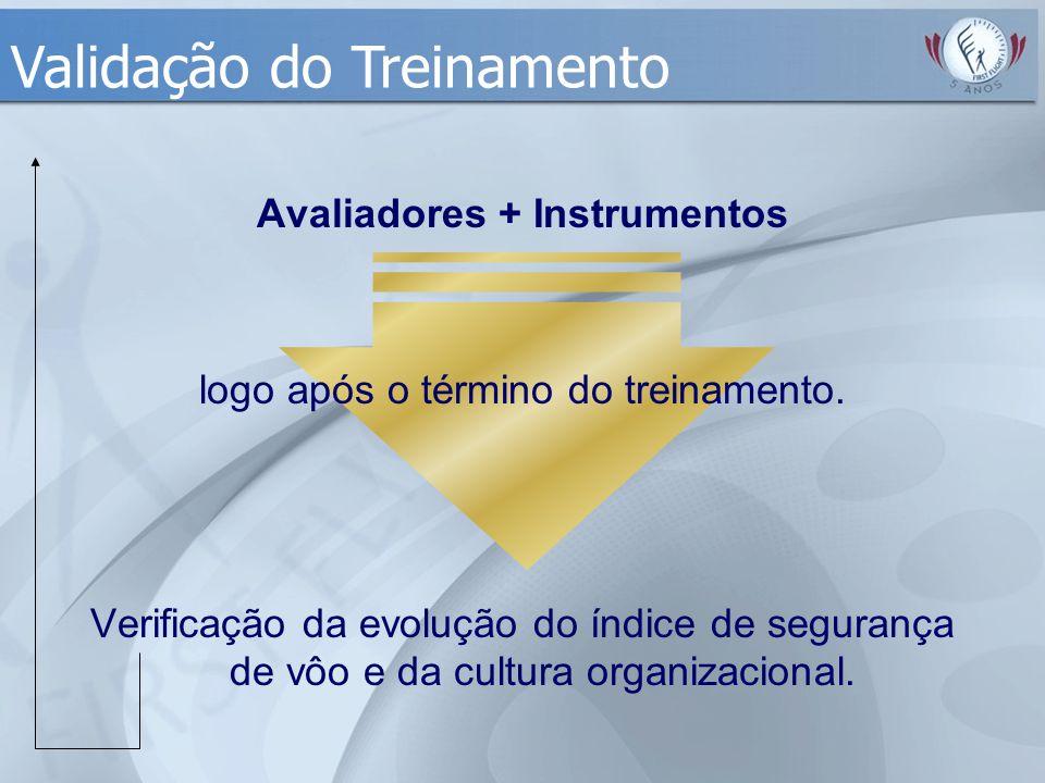 Avaliadores + Instrumentos