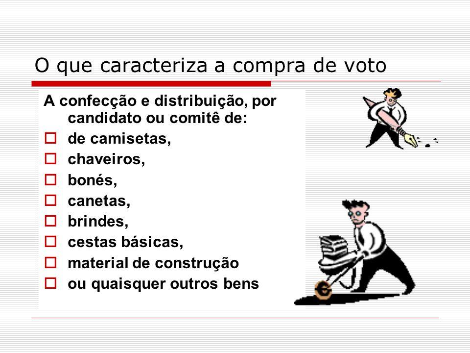 O que caracteriza a compra de voto