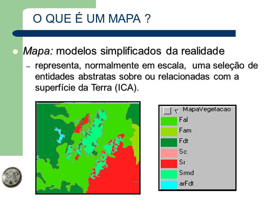 O QUE É UM MAPA Mapa: modelos simplificados da realidade