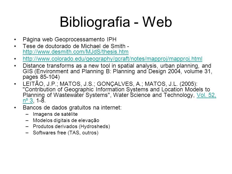 Bibliografia - Web Página web Geoprocessamento IPH