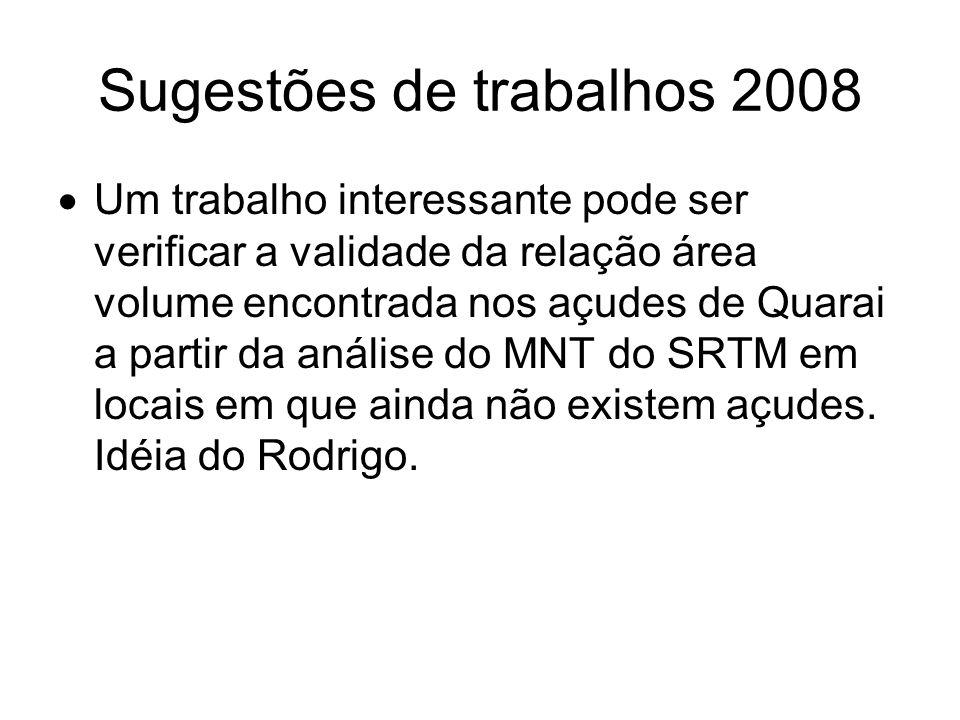 Sugestões de trabalhos 2008