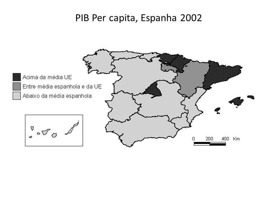 PIB Per capita, Espanha 2002