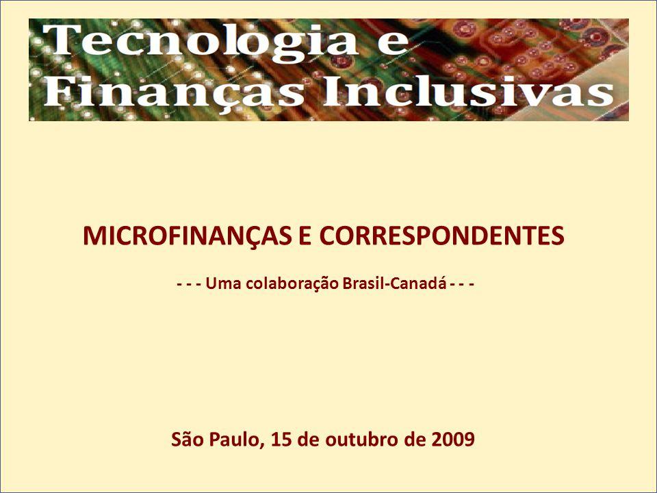 MICROFINANÇAS E CORRESPONDENTES