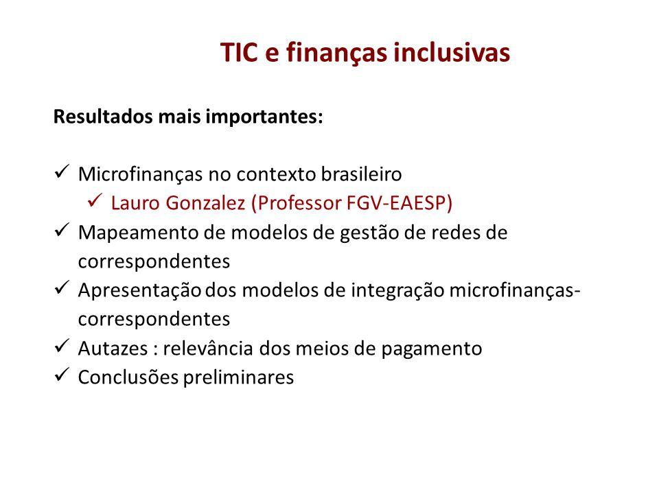 TIC e finanças inclusivas