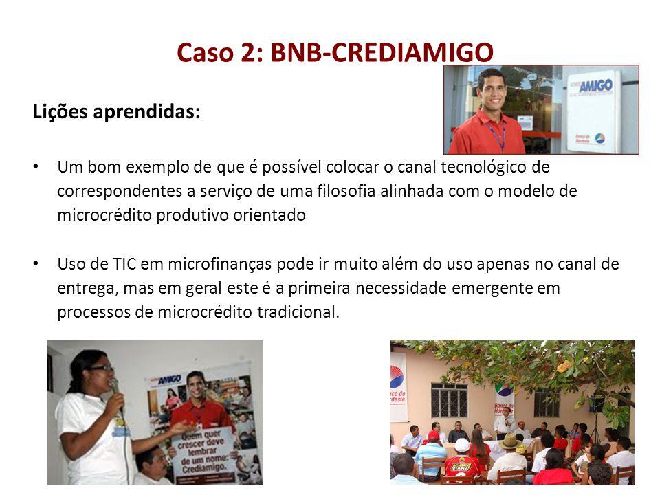 Caso 2: BNB-CREDIAMIGO Lições aprendidas: