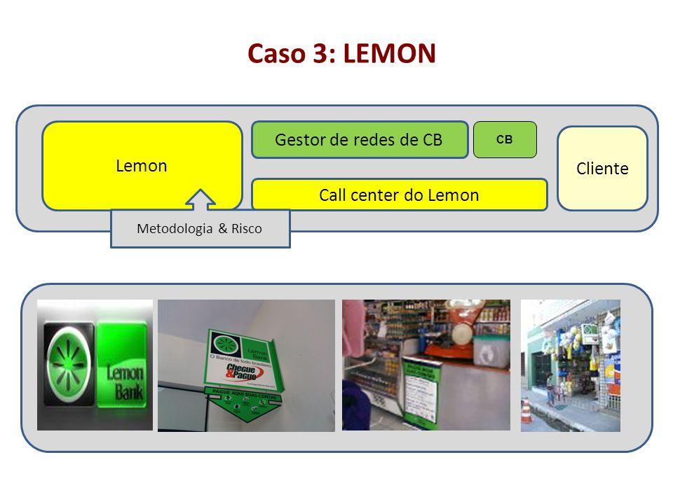 Caso 3: LEMON Gestor de redes de CB Lemon Cliente Call center do Lemon