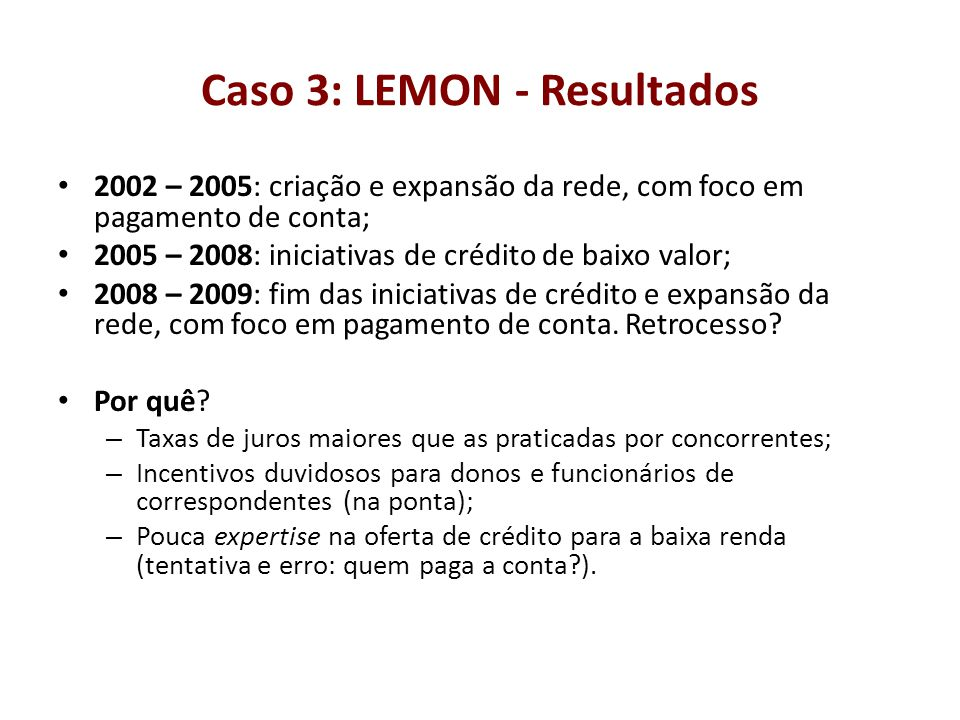Caso 3: LEMON - Resultados