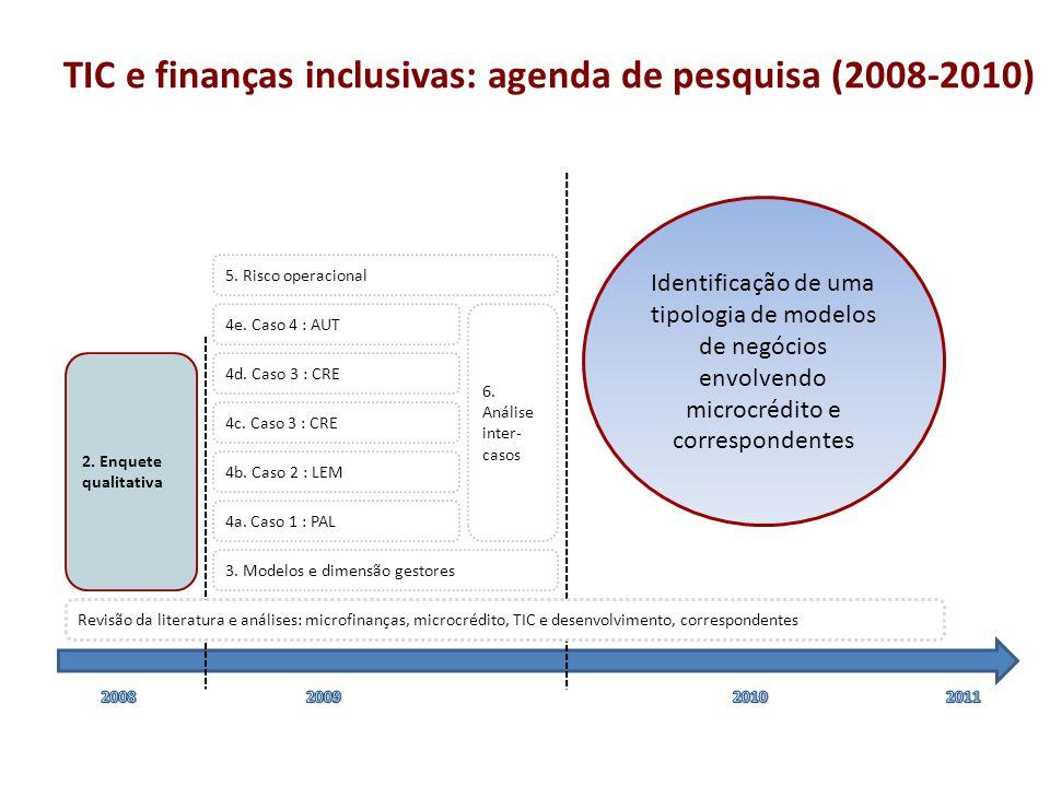 TIC e finanças inclusivas: agenda de pesquisa (2008-2010)