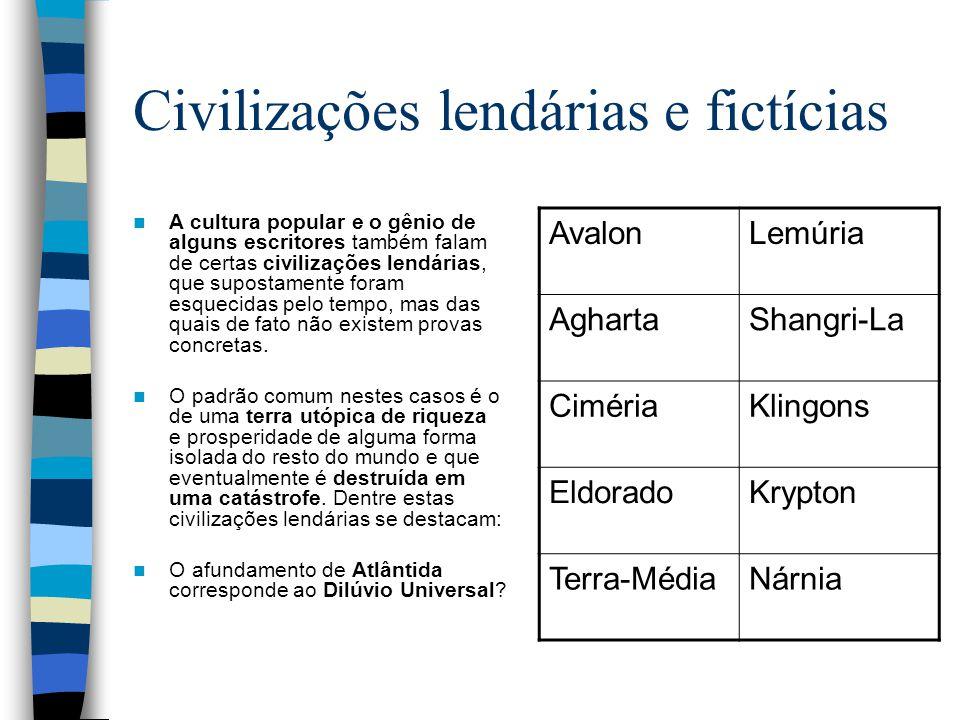 Civilizações lendárias e fictícias