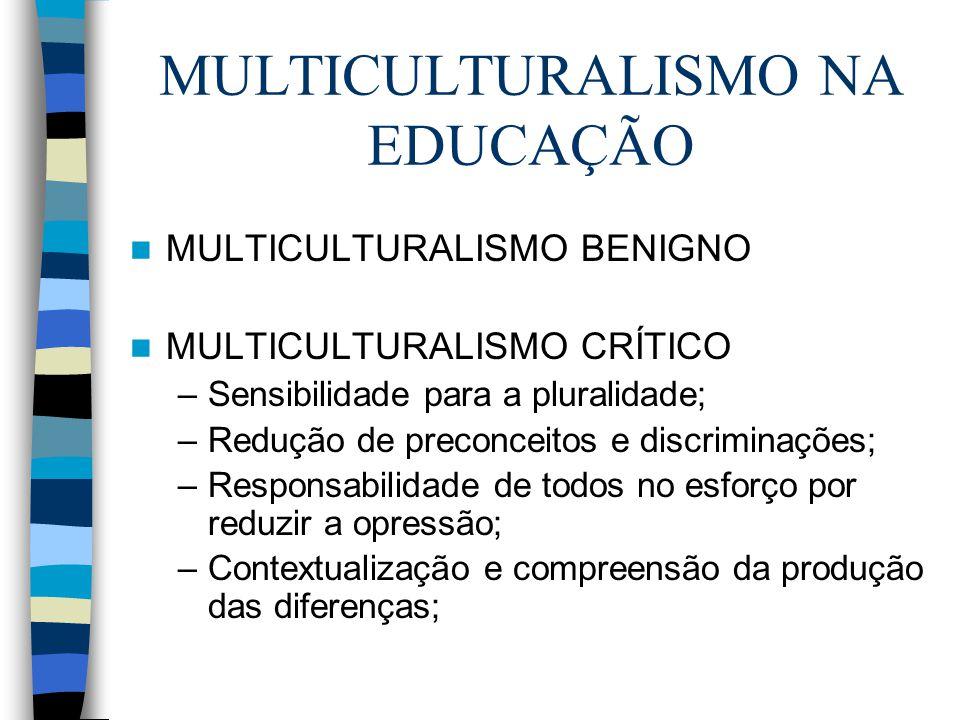 MULTICULTURALISMO NA EDUCAÇÃO