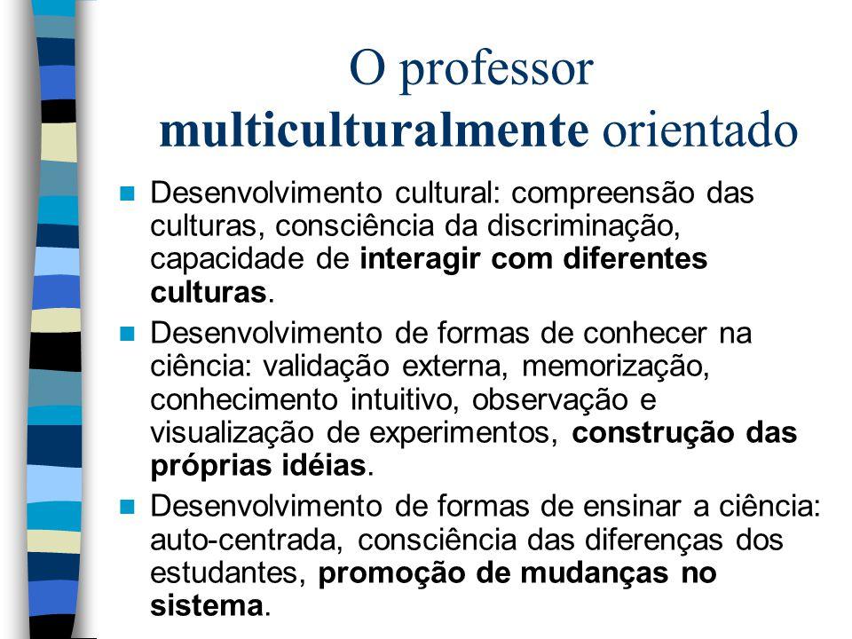 O professor multiculturalmente orientado