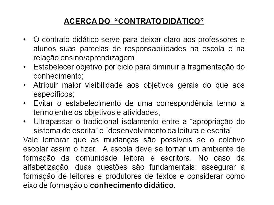 ACERCA DO CONTRATO DIDÁTICO
