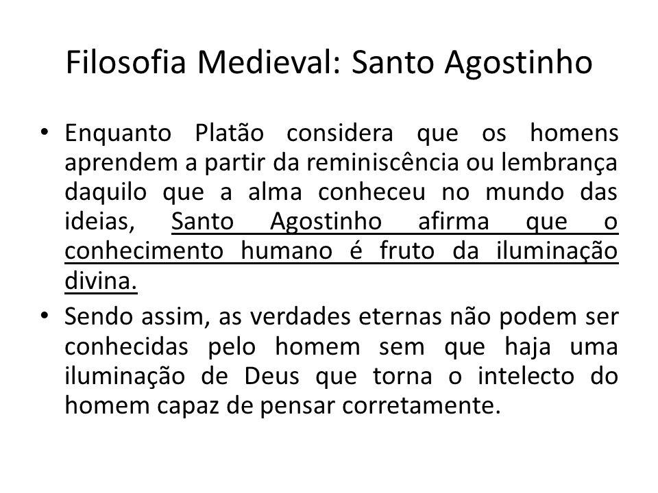 Filosofia Medieval: Santo Agostinho
