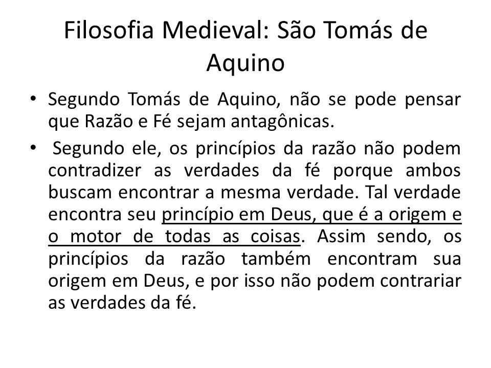 Filosofia Medieval: São Tomás de Aquino