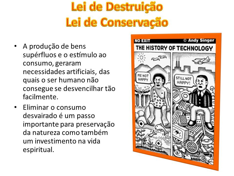 Lei de Destruição Lei de Conservação