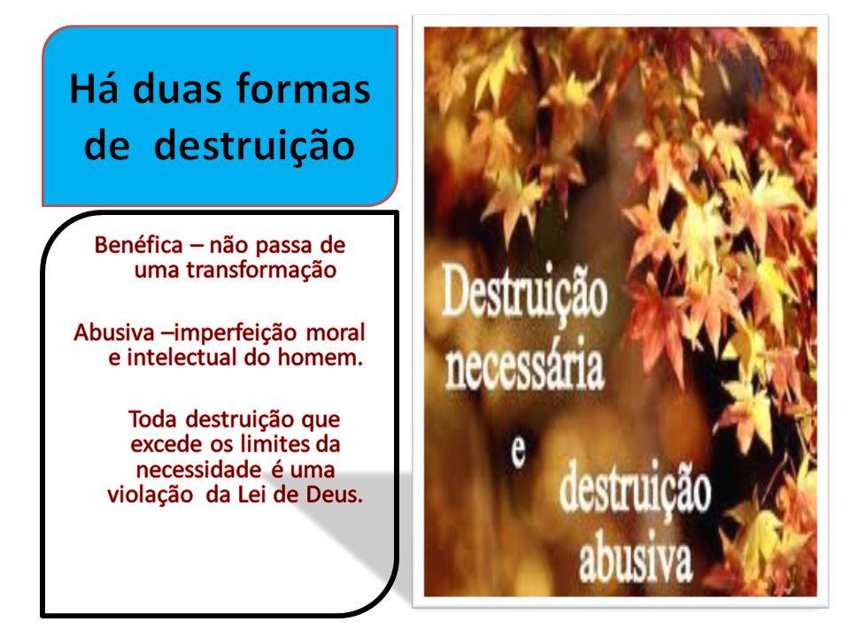 Há duas formas de destruição