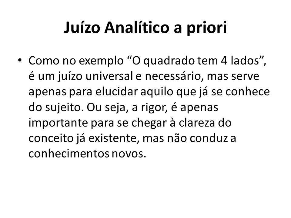 Juízo Analítico a priori