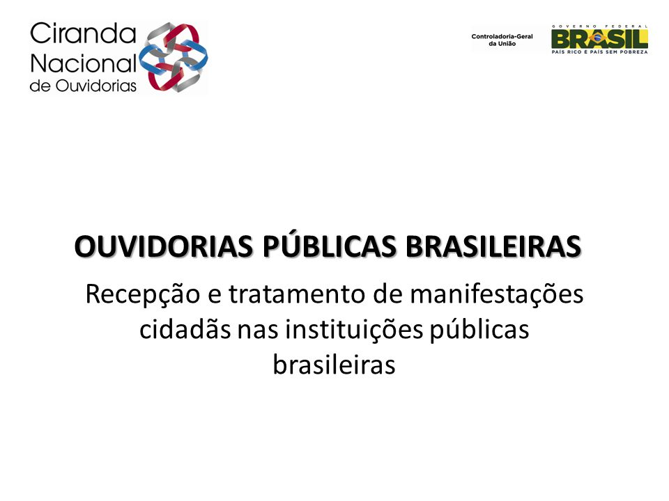 OUVIDORIAS PÚBLICAS BRASILEIRAS