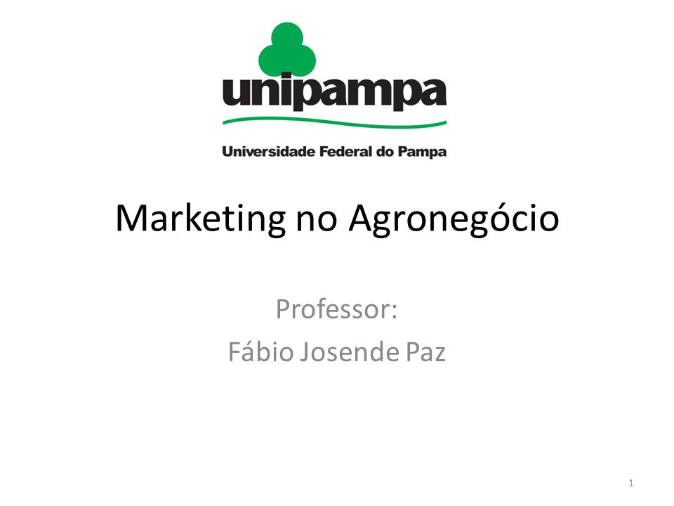 Marketing no Agronegócio