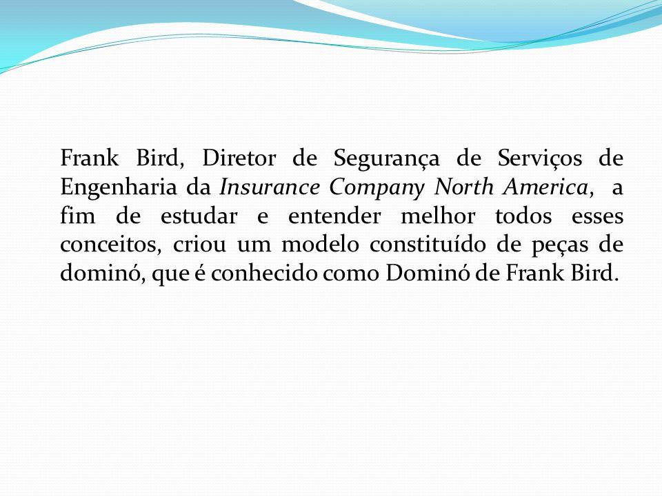 Frank Bird, Diretor de Segurança de Serviços de Engenharia da Insurance Company North America, a fim de estudar e entender melhor todos esses conceitos, criou um modelo constituído de peças de dominó, que é conhecido como Dominó de Frank Bird.