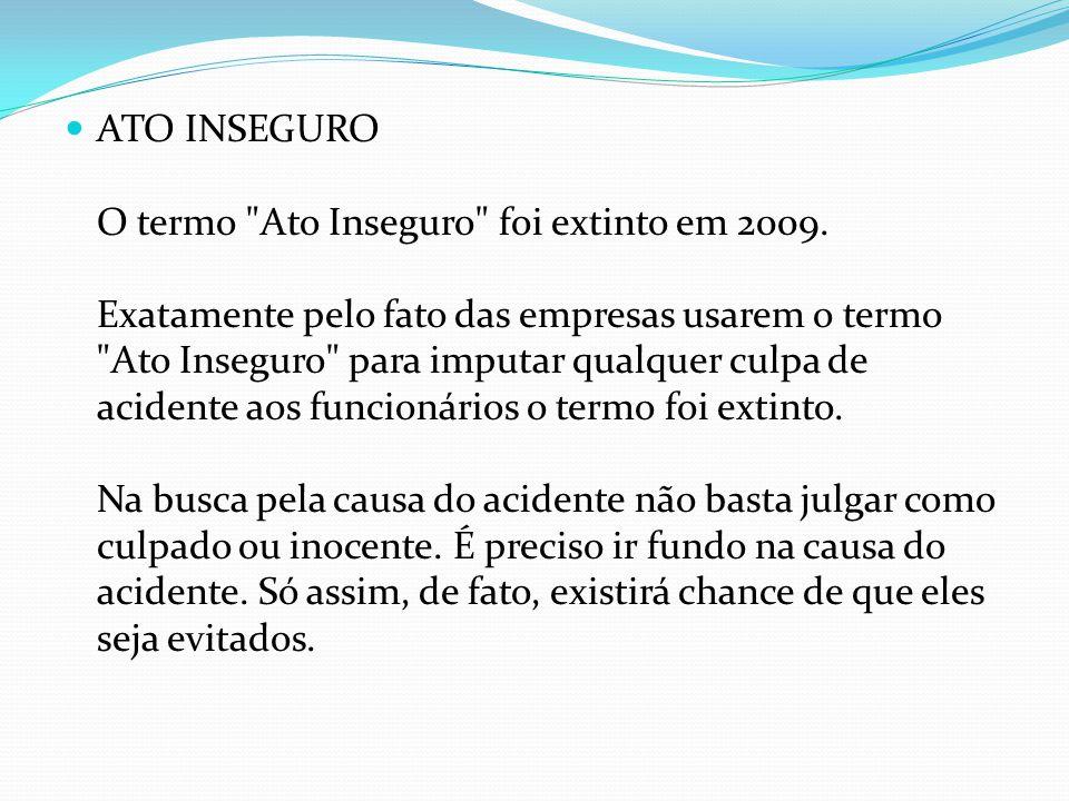 ATO INSEGURO O termo Ato Inseguro foi extinto em 2009