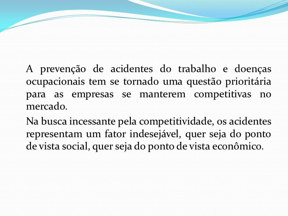 A prevenção de acidentes do trabalho e doenças ocupacionais tem se tornado uma questão prioritária para as empresas se manterem competitivas no mercado.