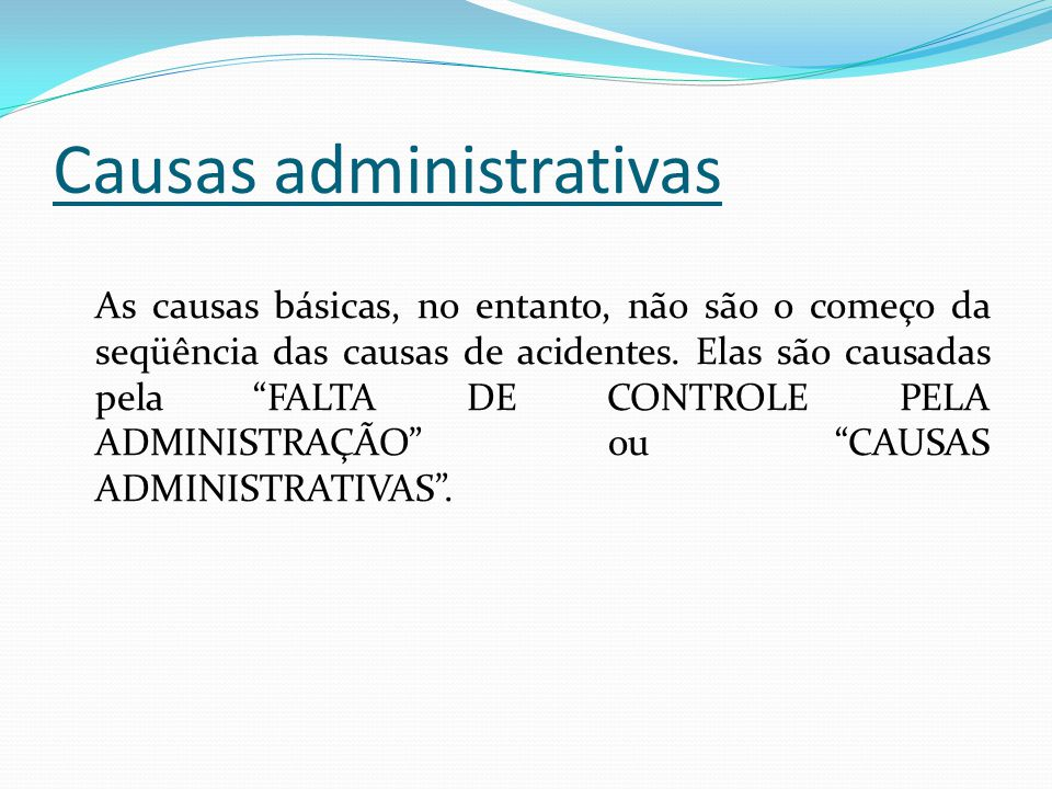 Causas administrativas