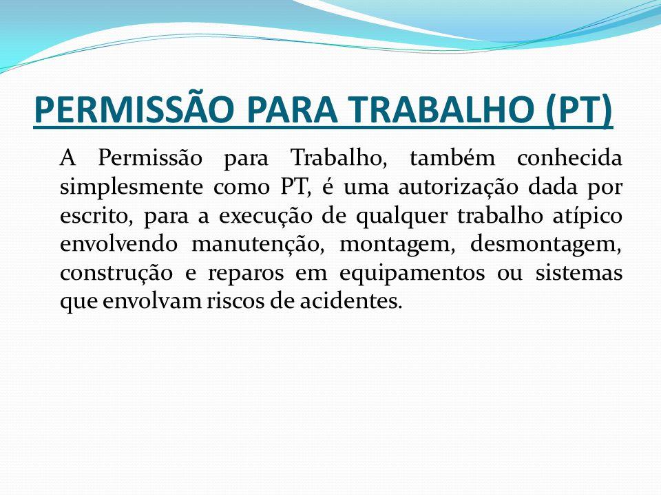 PERMISSÃO PARA TRABALHO (PT)