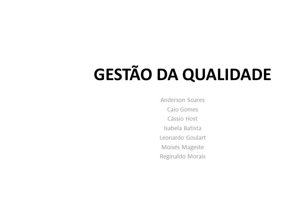 GESTÃO DA QUALIDADE Anderson Soares Caio Gomes Cássio Host