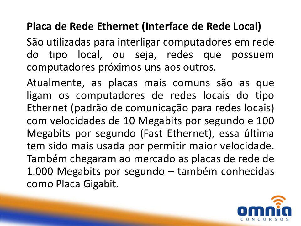 Placa de Rede Ethernet (Interface de Rede Local)