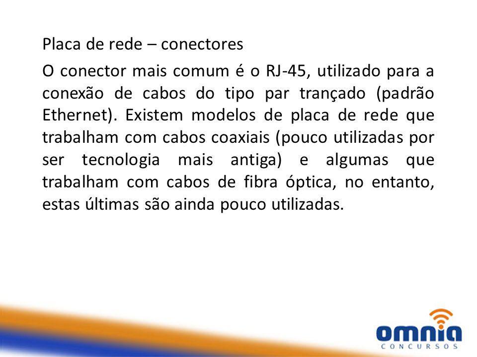 Placa de rede – conectores