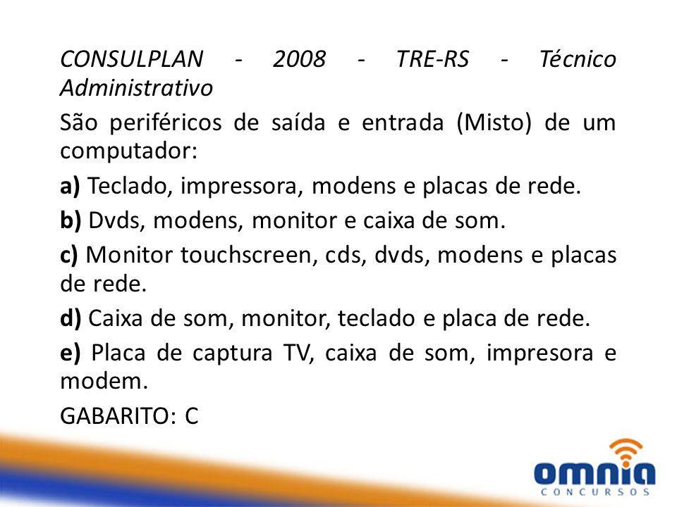 CONSULPLAN - 2008 - TRE-RS - Técnico Administrativo