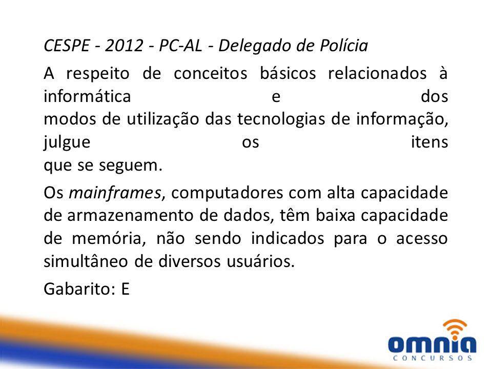 CESPE - 2012 - PC-AL - Delegado de Polícia