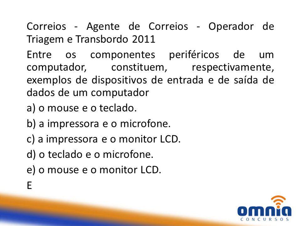 Correios - Agente de Correios - Operador de Triagem e Transbordo 2011