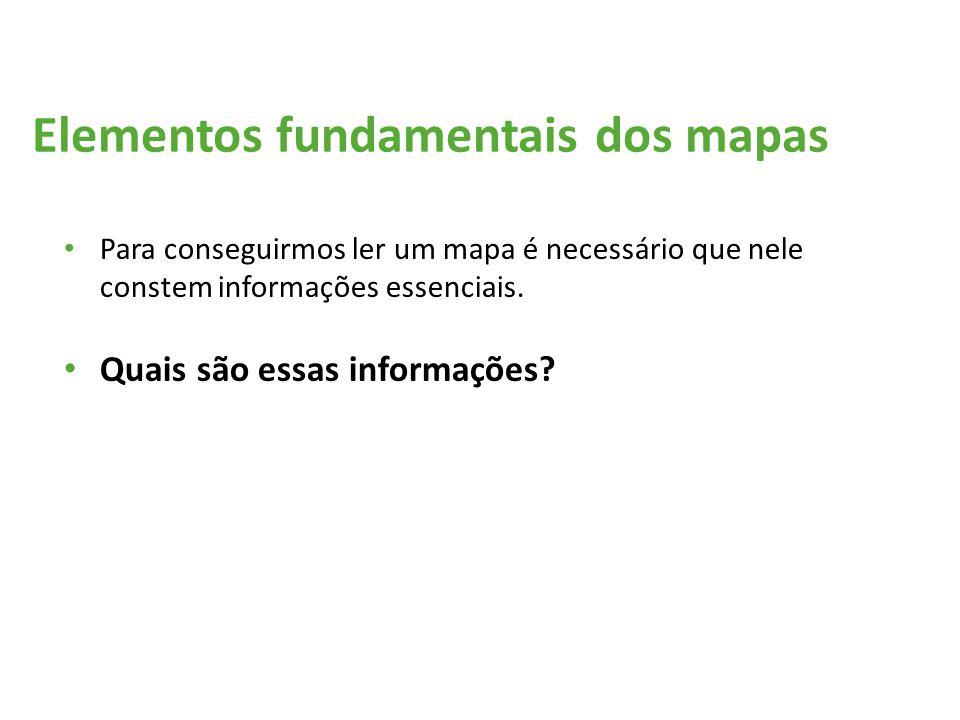 Elementos fundamentais dos mapas