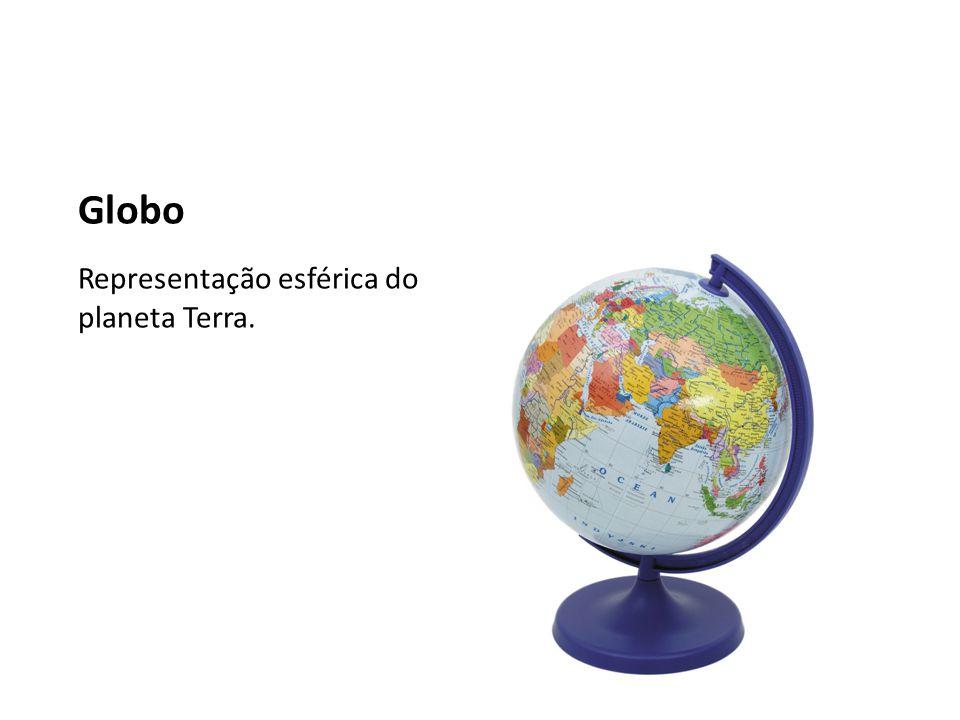 Globo Representação esférica do planeta Terra.