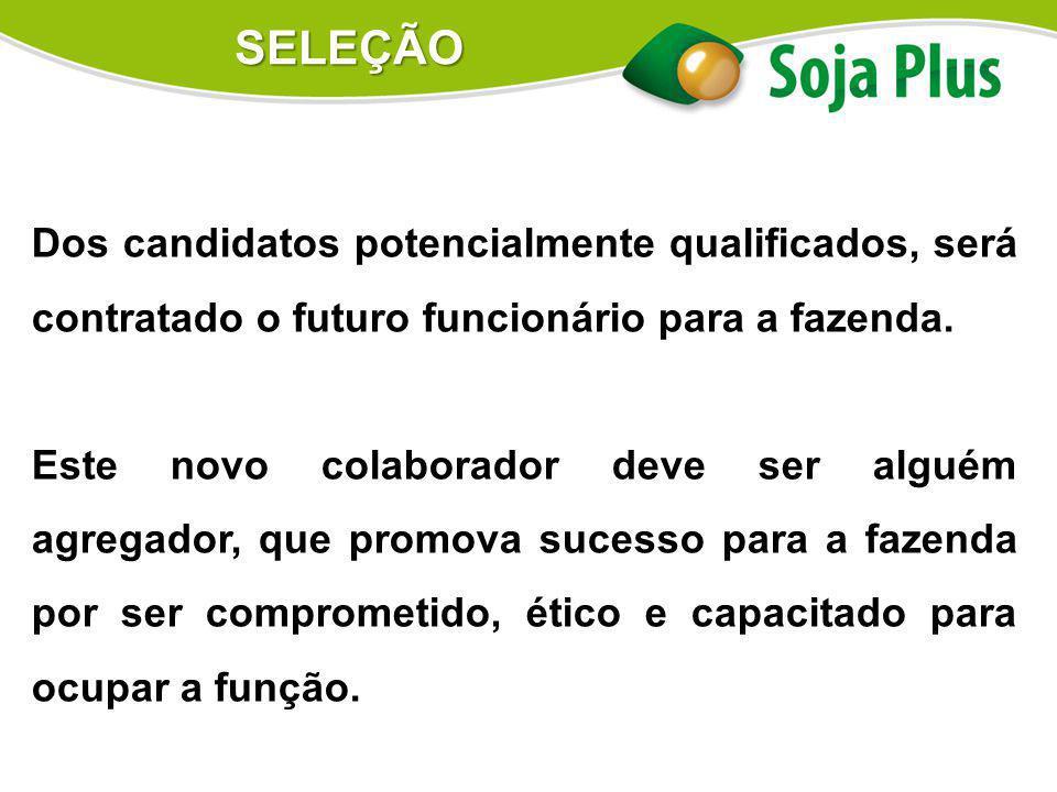 SELEÇÃO Dos candidatos potencialmente qualificados, será contratado o futuro funcionário para a fazenda.