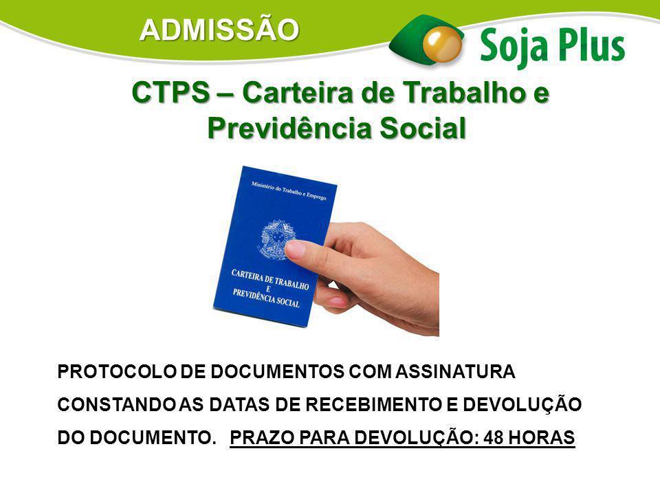 CTPS – Carteira de Trabalho e Previdência Social