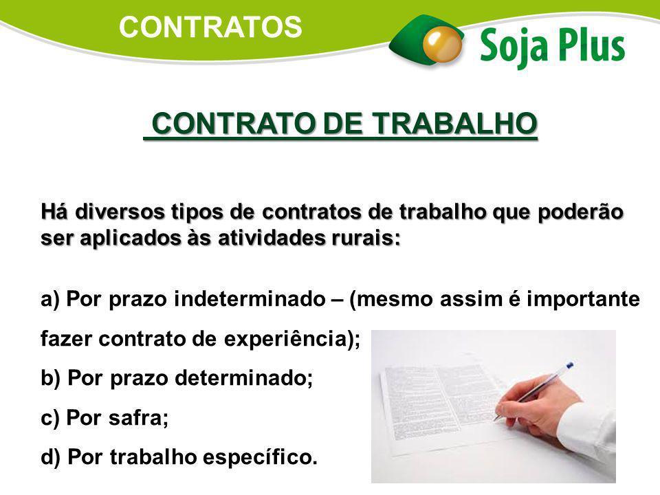 CONTRATOS CONTRATO DE TRABALHO