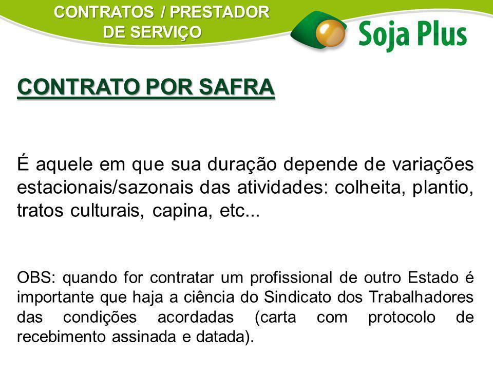 CONTRATOS / PRESTADOR DE SERVIÇO