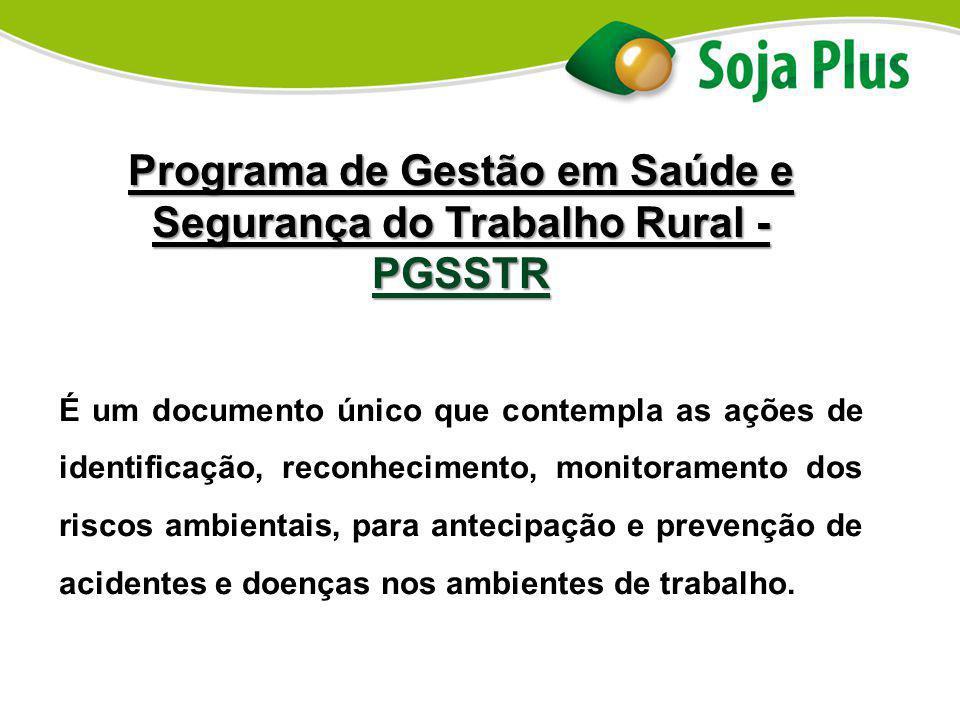 Programa de Gestão em Saúde e Segurança do Trabalho Rural - PGSSTR