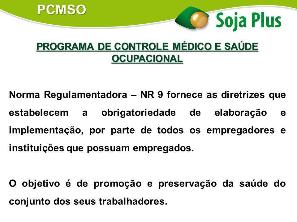 PROGRAMA DE CONTROLE MÉDICO E SAÚDE OCUPACIONAL