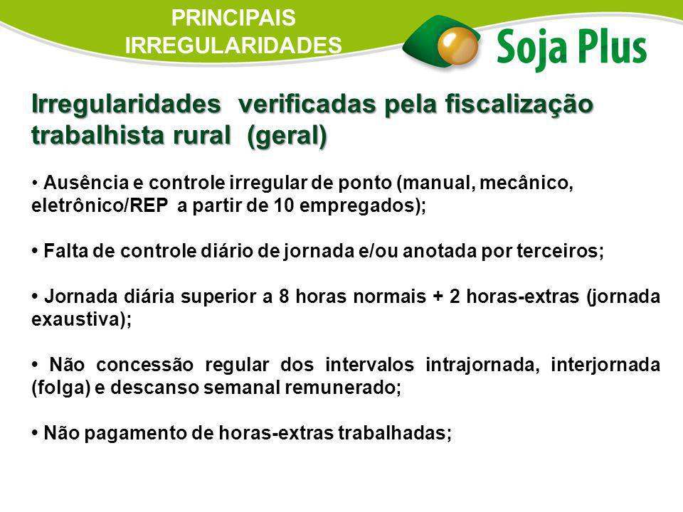 PRINCIPAIS IRREGULARIDADES