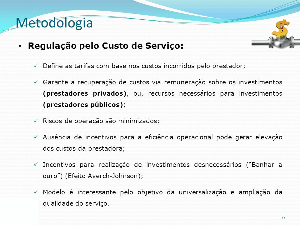 Metodologia Regulação pelo Custo de Serviço: