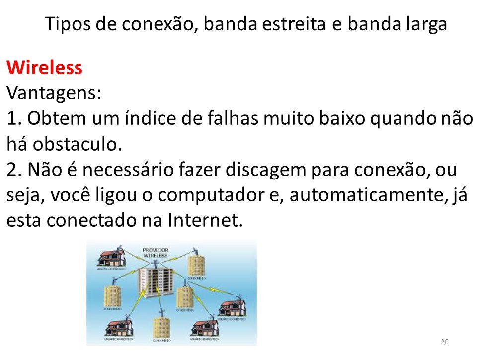 Tipos de conexão, banda estreita e banda larga