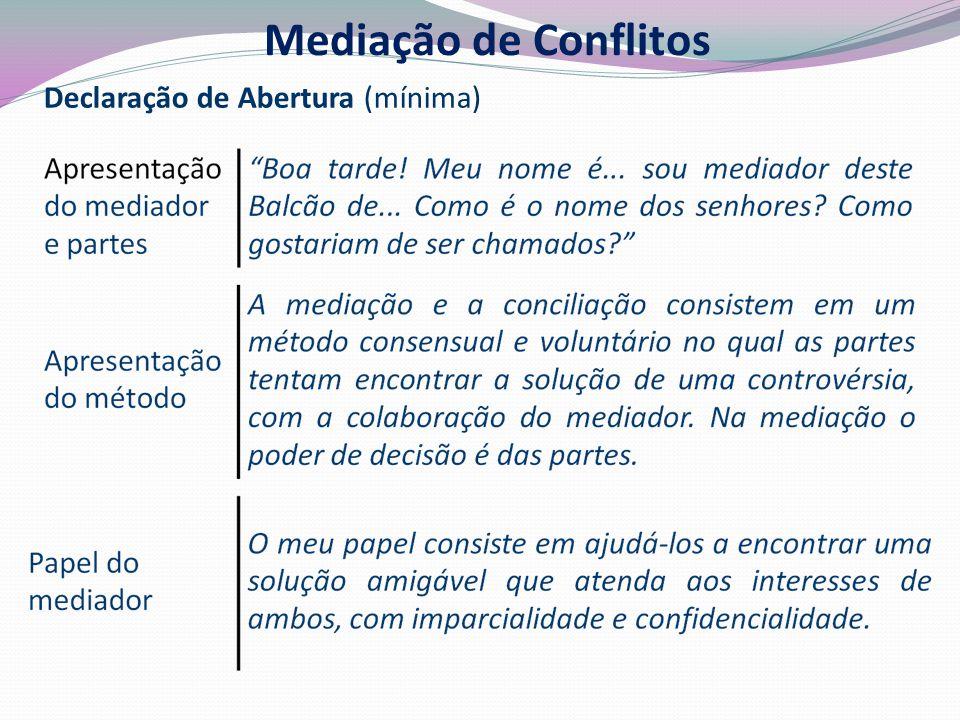 Mediação de Conflitos Declaração de Abertura (mínima) 24