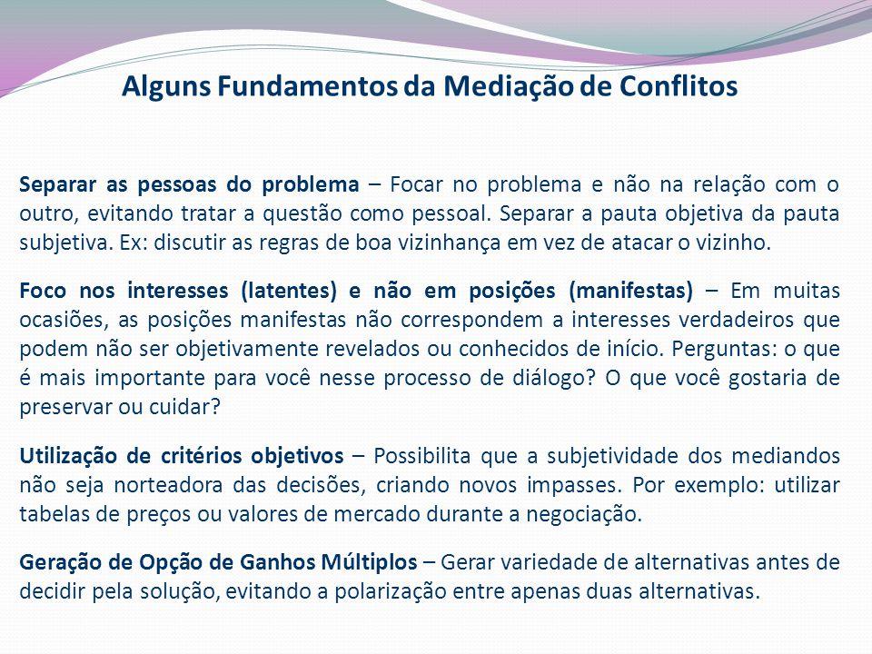 Alguns Fundamentos da Mediação de Conflitos
