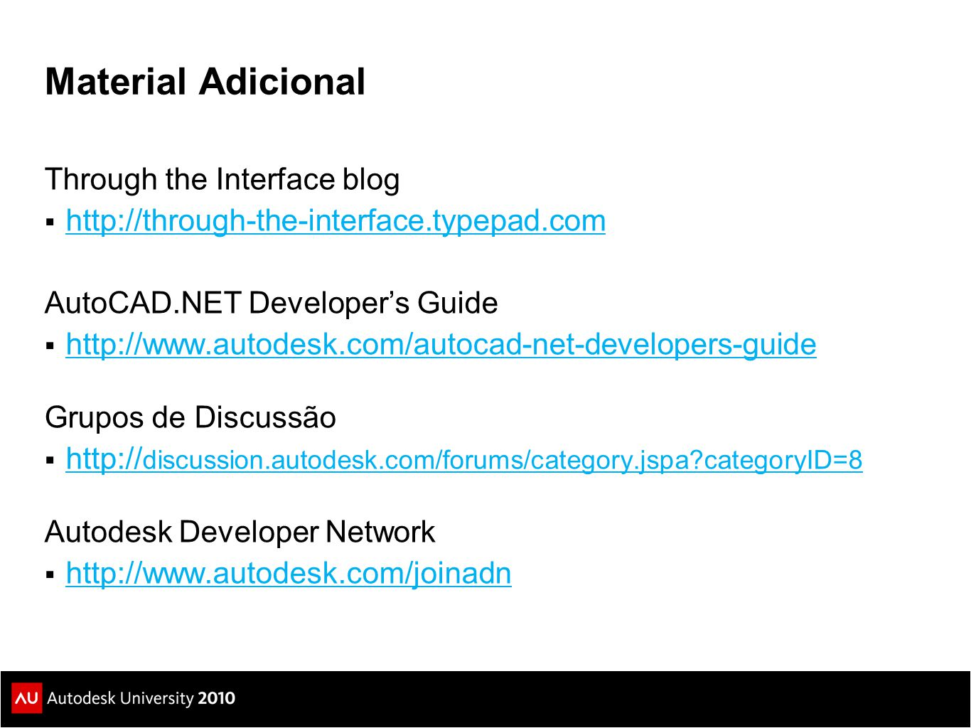 Material Adicional Through the Interface blog
