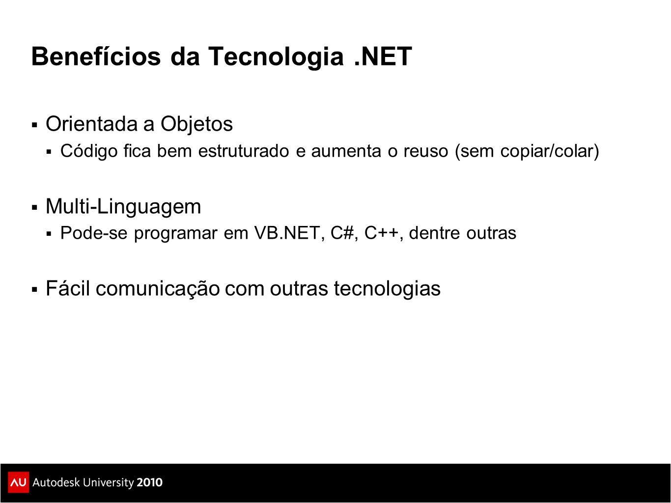 Benefícios da Tecnologia .NET