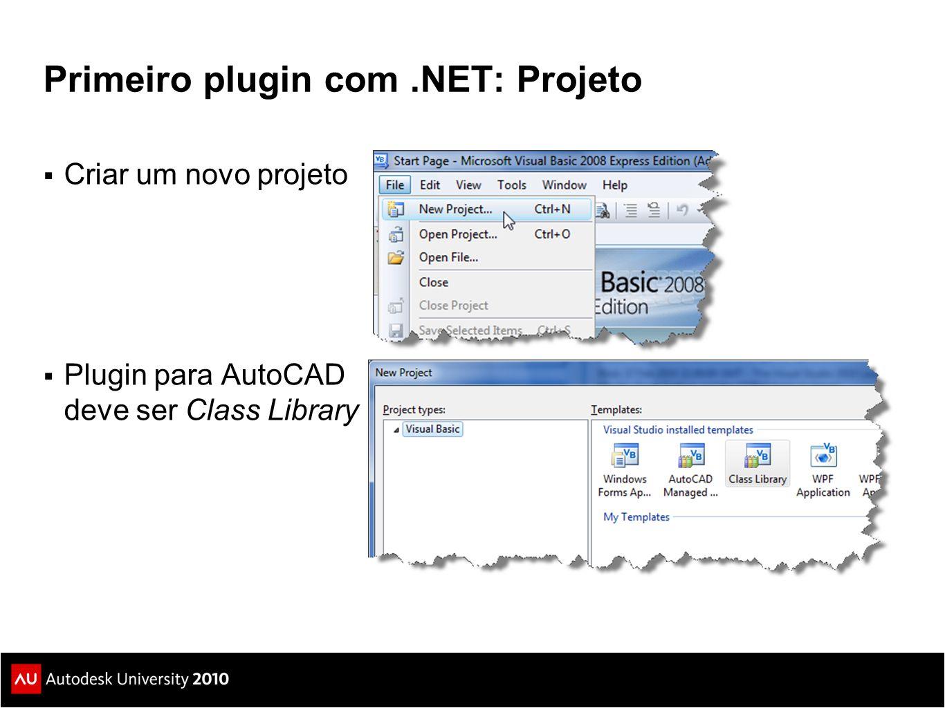 Primeiro plugin com .NET: Projeto